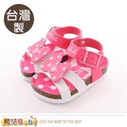 魔法Baby 女童鞋 台灣製迪士尼米妮專櫃正版涼鞋~sk0379