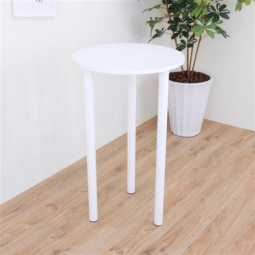 頂堅 寬60x高98/公分(PVC防潮材質)圓形吧台桌/高腳桌/餐桌/洽談桌(二色可選)
