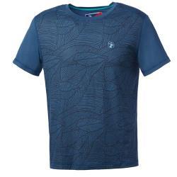 【Wildland 荒野】男彈性棉感抗UV印花上衣共3色