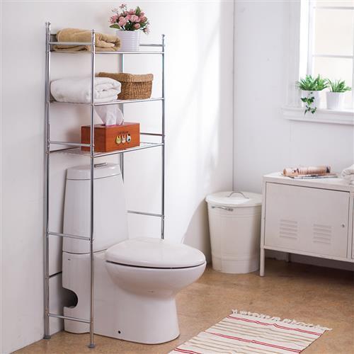 樂活玩家 電鍍馬桶置物架/衛浴置物