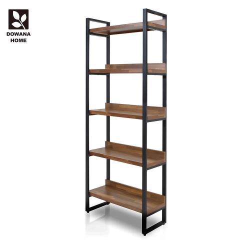 【多瓦娜】日式工業-集成2.7尺高書櫃/書架-兩色