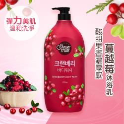 Shower Mate-微風如沐 果香沐浴乳-蔓越莓(1200g) 下單送:蔬果淨化潔顏乳 120g