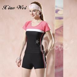 泳之美品牌 時尚經典二件式短袖加大泳裝 NO.2295-4L