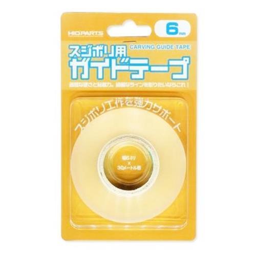 日本HIQPART硬邊膠帶CGT-6MM刻線膠帶硬膠帶(6mmx30m;透明/厚)適模型畫線膠布-日本平行輸入