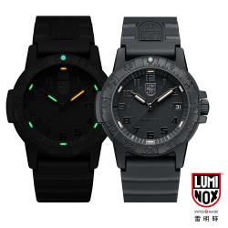 LUMINOX 雷明時SEA TURTLE 0320海龜系列腕錶-黑x黑時標/44mm A0321.BO