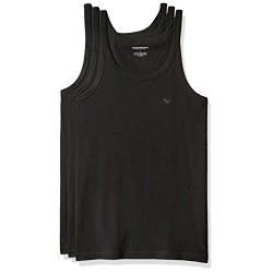EMPORIO ARMANI 男時尚標誌款黑色背心3件組(預購)
