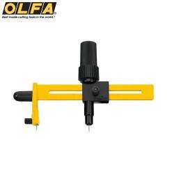日本OLFA豪華版切圓器割圓器CMP-1/DX(直徑1.6-22公分圓型;附針頭墊片)切割刀切圓形刀具cutter