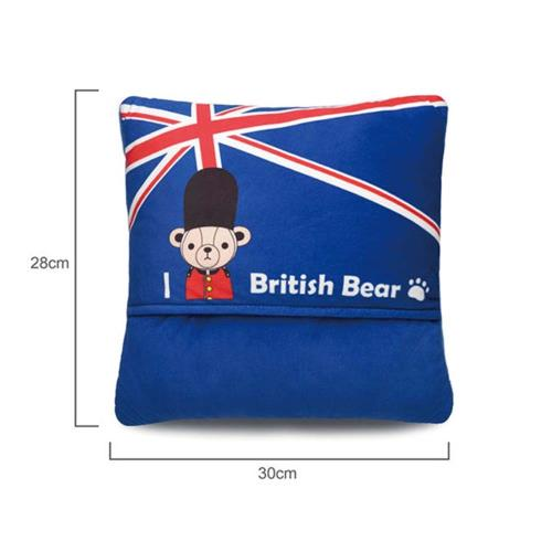 英國熊 英倫風暖腳墊 064TA-D19B