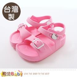 魔法Baby 女童鞋 台灣製Hello Kitty正版超輕涼鞋~sk0477