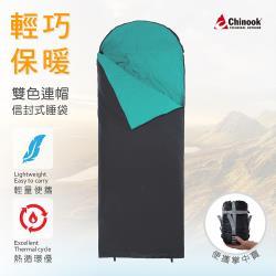 Chinook-超級掌中寶連帽信封式睡袋20315(露營睡袋)