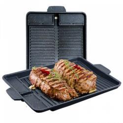 AGS無煙不沾自動瀝油韓式麥飯石烤盤(2入)