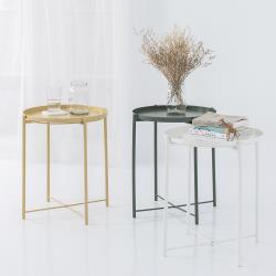 樂嫚妮歐式簡約風格托盤桌/邊桌/茶几桌/小圓桌