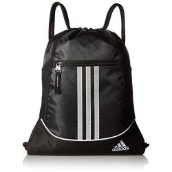 Adidas 2018時尚聯盟黑色拉鍊款抽繩後背包