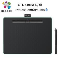 5月登錄贈活動!!!Wacom Intuos Comfort Plus Medium繪圖板 (藍芽版)-綠 CTL-6100WL/E0-C