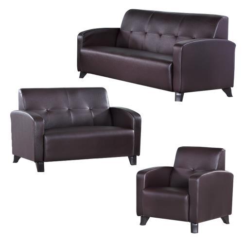 Boden-萊斯爾皮沙發椅組合 1+2+3人座