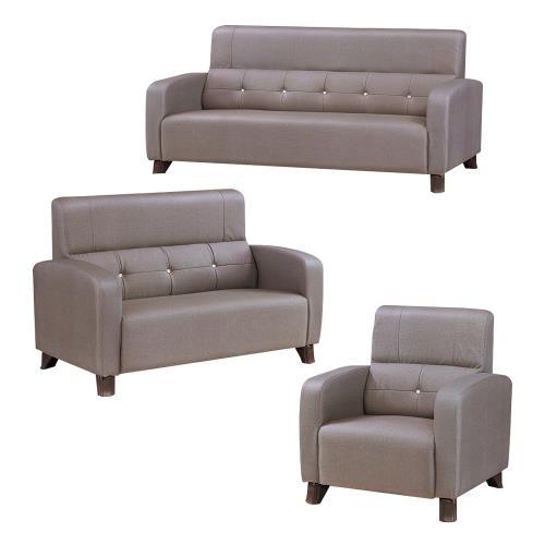 Boden-凱瑟貓抓皮沙發椅組合 1+2+3人座