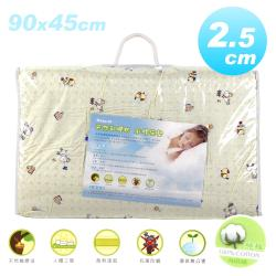 NATURAL 1吋純棉天然乳膠床墊(90x45cm)-男生款黃色藍色隨機出貨