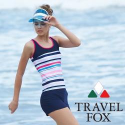 旅狐TRAVEL FOX  大女長版二件式泳衣c18720
