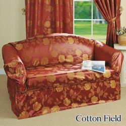 棉花田 彩妍 提花1+2+3人沙發套/沙發便利套組-紅色