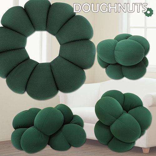 棉花田 米其林 超大甜甜圈可變身立體胖胖墊-茶綠色