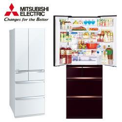 三菱 MITSUBISHI 日本原裝 一級能效 525公升變頻六門玻璃鏡面電冰箱 MR-WX53C