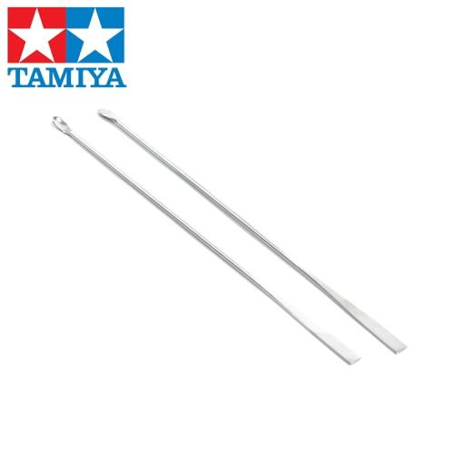 日本田宮TAMIYA不鏽鋼調色棒顏料攪拌棒74017(2入,金屬製,表面光滑)模型調漆棒攪拌匙-日本平行輸入