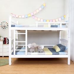 Boden-莎拉白色3.5尺實木雙層床架