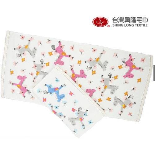 幸福小馬紗布童巾/小毛巾
