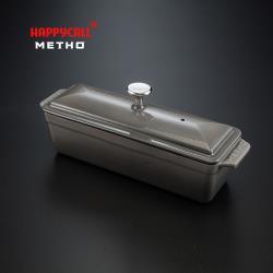 【韓國HAPPYCALL】METHO圓形多功能長方形鑄鐵鍋30cm(漸層灰)