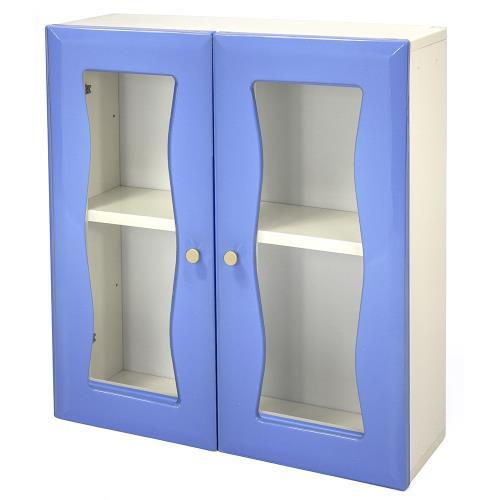 Aaronation - 時尚造型塑鋼雙開門浴櫃 - GU-B1009