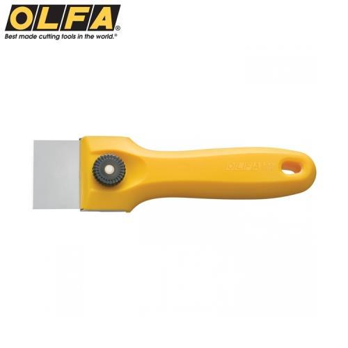 日本OLFA不鏽鋼刮刀T-45(170mm*45mm薄刀片可換可水洗)可彎曲使用適縫隙 刮除殘膠油漆填縫膠矽立康Silicon