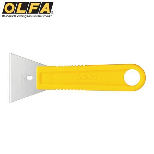 日本OLFA不鏽鋼刮刀SCR-L(大:尺寸155mm*55mm;不銹鋼製可水洗)適刮除殘膠.油漆.矽立康Silicon