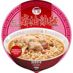 台酒TTL  紅標米酒麻油雞碗麵(12碗/箱)