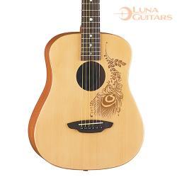 美國 LUNA 印度花 雲杉/桃花心木 36吋旅行吉他 SAF HEN