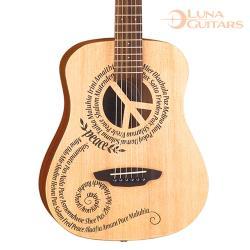 美國 LUNA 和平 雲杉/桃花心木 36吋旅行吉他 SAF PCE