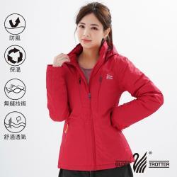 遊遍天下 女款 防風透濕保暖無車縫羽絨機能外套(紅色)