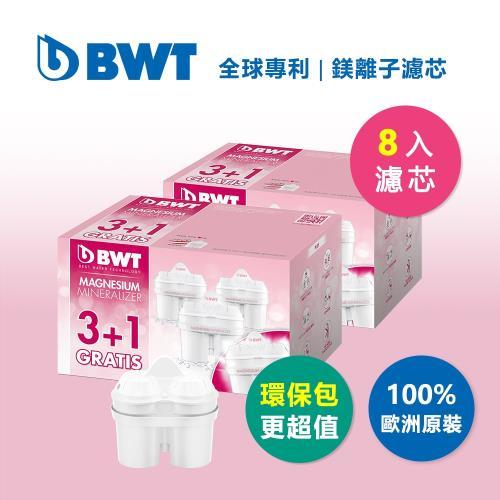 BWT德國倍世 Mg2+鎂離子濾芯 環保包超值組 8入