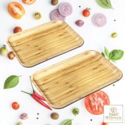 英國 WILMAX 竹製長形餐盤/輕食盤-超值二入組