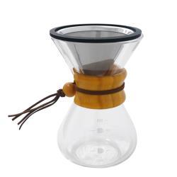 日本寶馬 400ml巴菲特手沖咖啡壺(蜂巢式雙網) TA-G-11-400