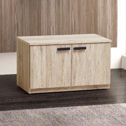 Boden-米菲2.7尺二門坐式鞋櫃/穿鞋椅