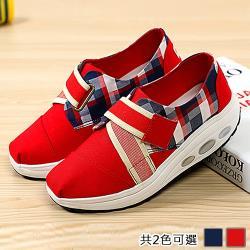 Alice (預購) 造型格紋英倫風健走鞋