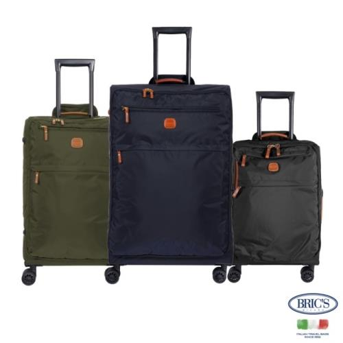 義大利BRICS 超輕量 28吋 小牛皮防水布箱(行李箱/ 旅行箱/軟箱/布箱)