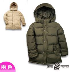 【遊遍天下】童款中長版防風防潑水90%羽絨可拆連帽外套GJ22019(兩色)