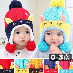 加絨加厚兒童針織帽