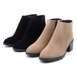 【cher美鞋】 MIT 簡約素雅低跟百搭短靴-黑色/可可 36-40碼 0751262424-18