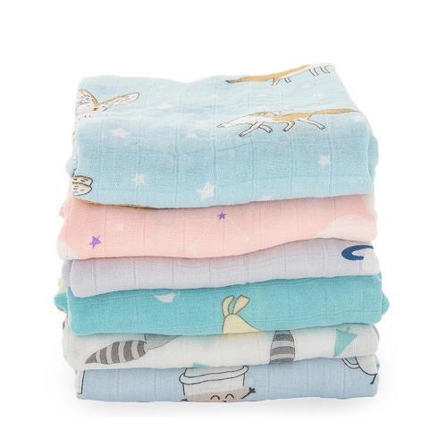 【2條入】Muslintree雙層紗布包巾竹纖維新生兒蓋毯寶寶包被/