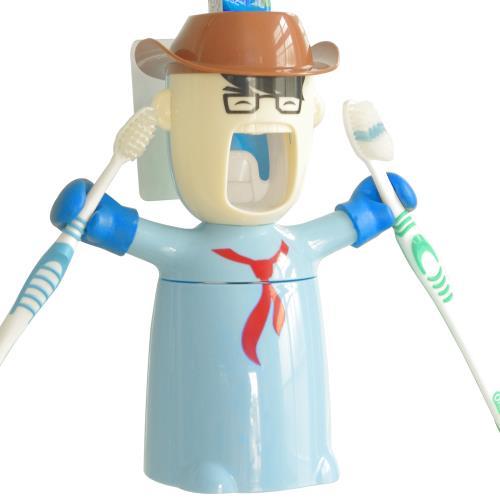 真空擠壓自動擠牙膏器牙刷架(3合1套組)