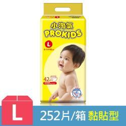小淘氣 透氣乾爽紙尿褲42片x6包-L