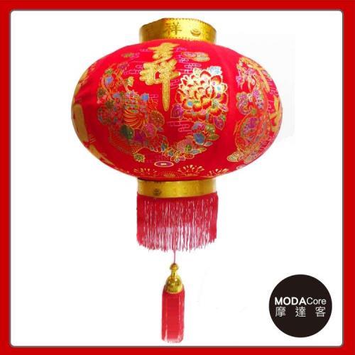 摩達客-農曆春節元宵-60cm吉祥大福發財大紅燈籠(單入)