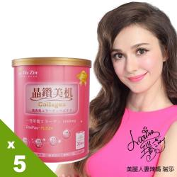 【BeeZin康萃】瑞莎代言 第2代PLUS蔓越莓膠原粉x5罐(195公克/罐 )
